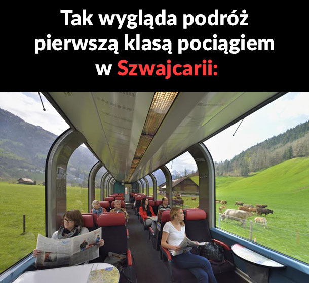 Podróż pociągiem w Szwajcarii