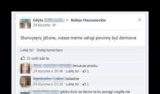 Koleje Mazowieckie - mistrz ciętej riposty!