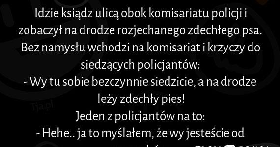 Kawał o księdzu i policjantach :)
