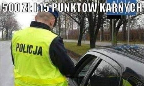 Kierowca gasi policjanta :D