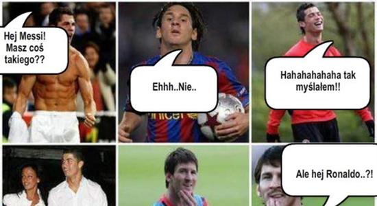 Messi zgasił Ronaldo :D
