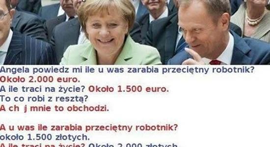 Rozmowa Tuska z kanclerz Niemiec.