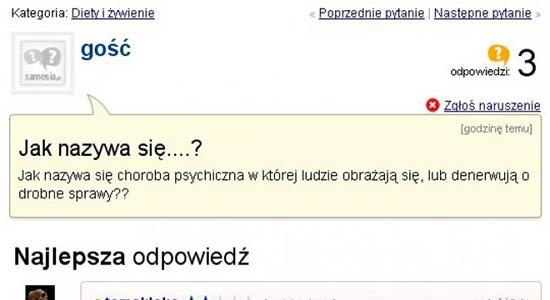 Jak nazywa się taka choroba psychiczna? :D