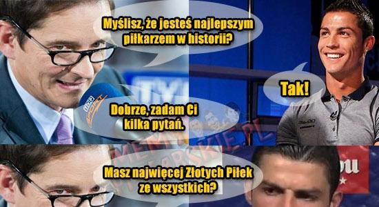 Dziennikarz udowadnia Ronaldo, że nie jest On najlepszy! :D