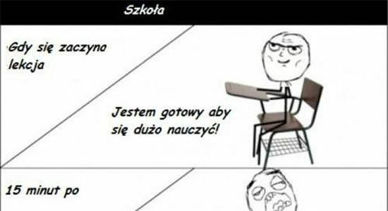 Moja typowa lekcja w szkole :D