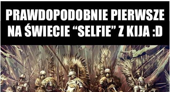 """Prawdopodobnie pierwsze na świecie """"selfie"""" z kija :D"""