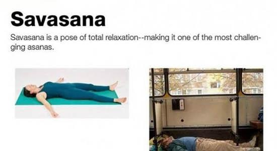 Dokładna prezentacja wielu pozycji jogi przez chętnych panów :D
