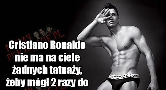 To dlatego Cristiano Ronaldo nie ma żadnego tatuażu. Szacunek!
