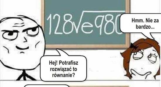 Hej! Potrafisz rozwiązać to równanie?