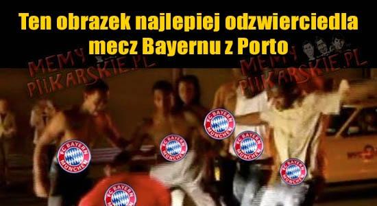 Mniej więcej tak wyglądała pierwsza połowa meczu Bayern vs Porto