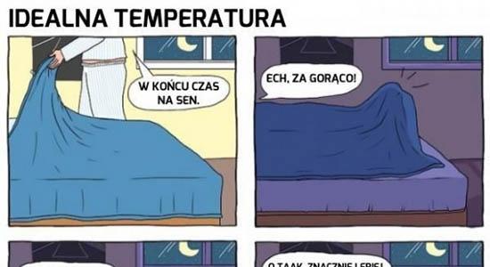 Idealna temperatura do snu