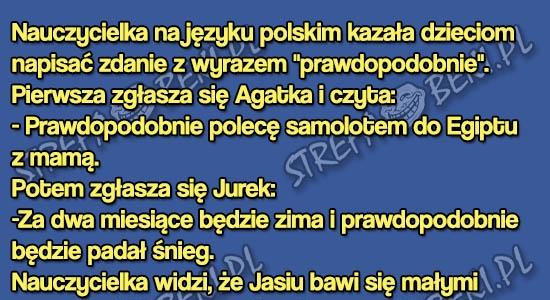 """Jasiu i zdanie ze słowem """"prawdopodobnie"""""""