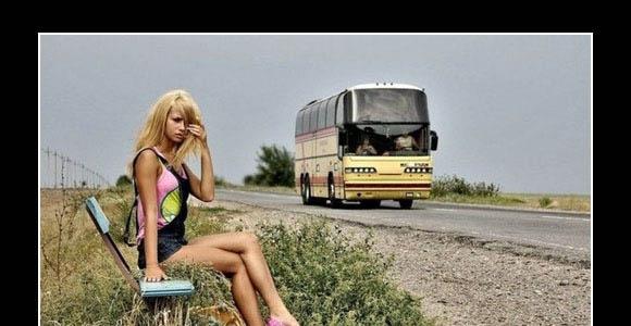 Kobiety są jak przejeżdżający autobus