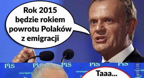 Reakcja Kaczyńskiego na obietnice Tuska