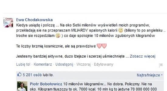 Obliczenia Chodakowskiej