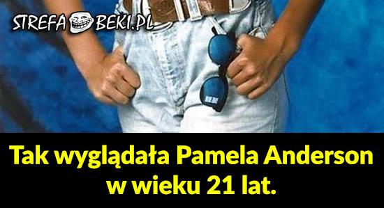 Pamela Anderson w wieku 21 lat