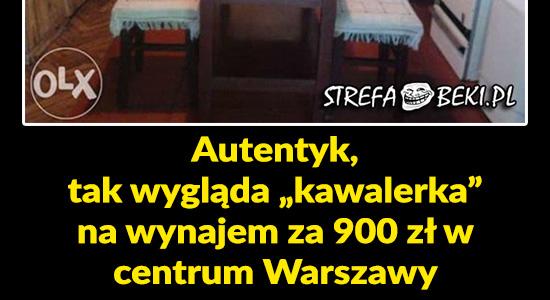 Kawalerka za 900 zł w centrum Warszawy
