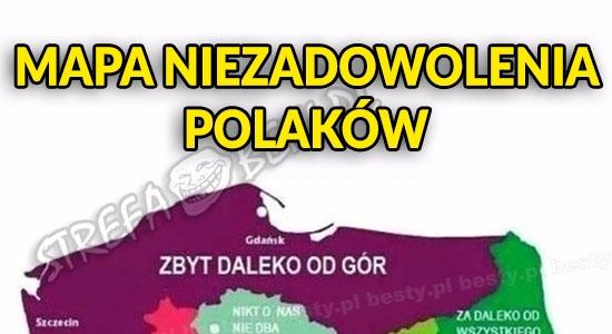 Mapa niezadowolenia Polaków