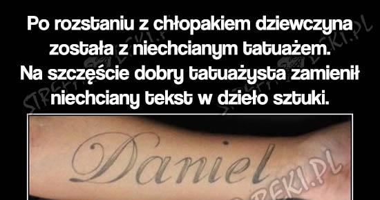 Tatuażysta zamienił niechciany tekst w dzieło sztuki