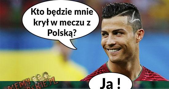 Reakcja Ronaldo na obronę Polski