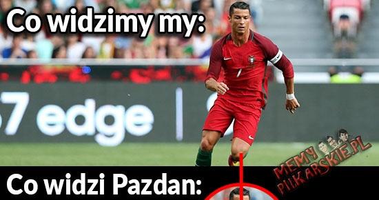 Jak my widzimy Ronaldo VS jak widzi go Pazdan