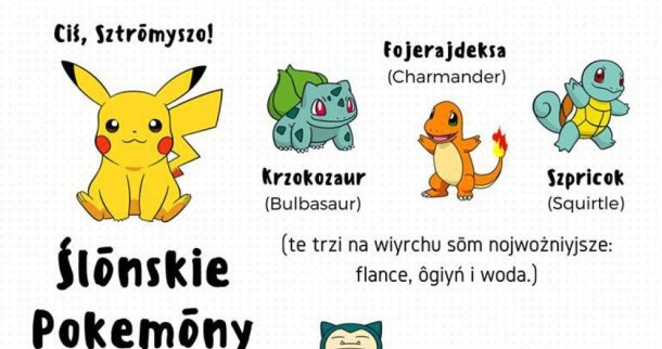 Pokemony po śląsku :D