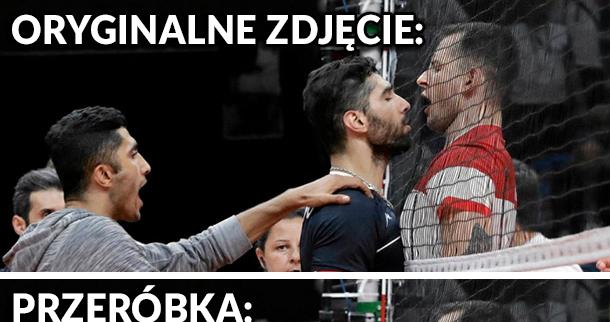 Na meczu Polska - Iran było gorąco xD