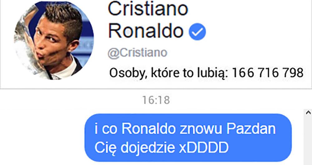 Ronaldo na temat wylosowania Legii :D