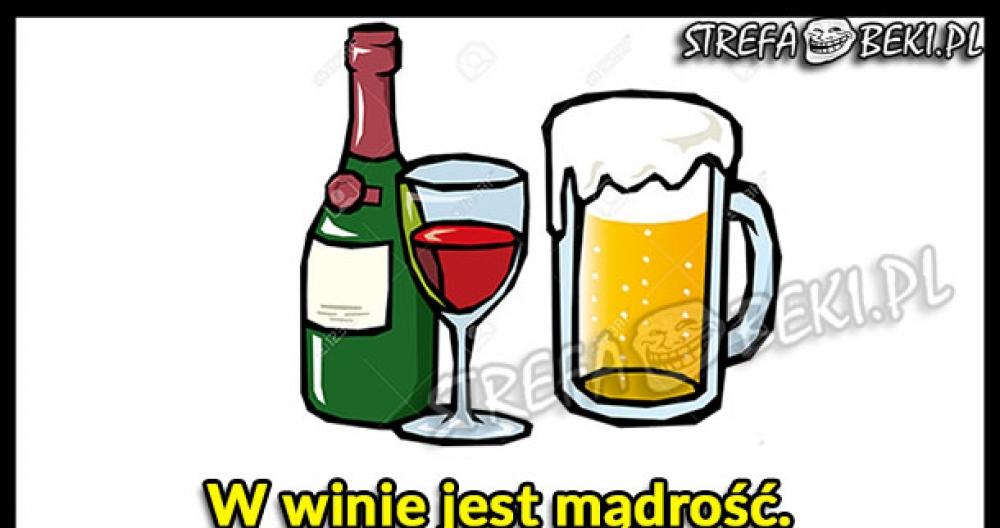 Wino, piwo, woda...