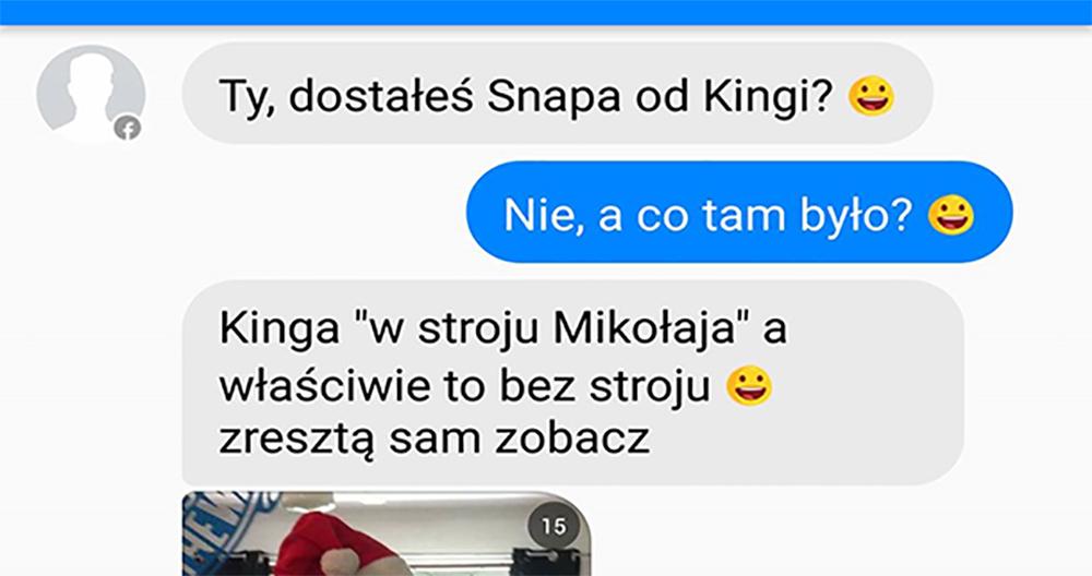 """Kinga """"w stroju Mikołaja"""" :D"""