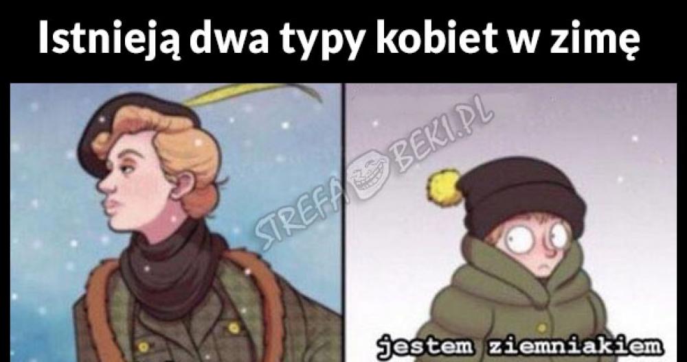 Dwa typy kobiet w zimę