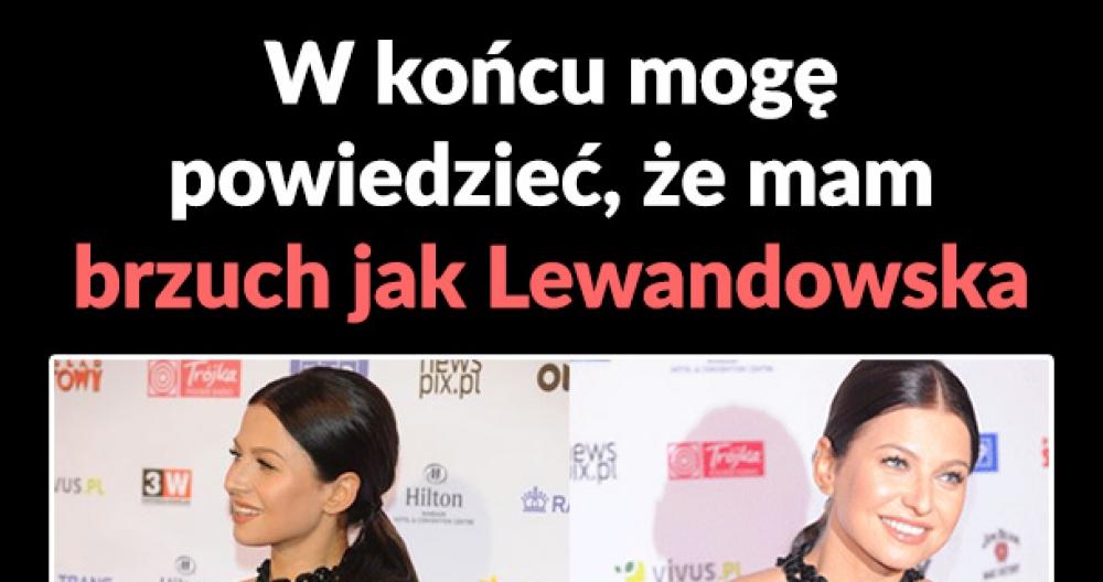 Brzuch jak Lewandowska
