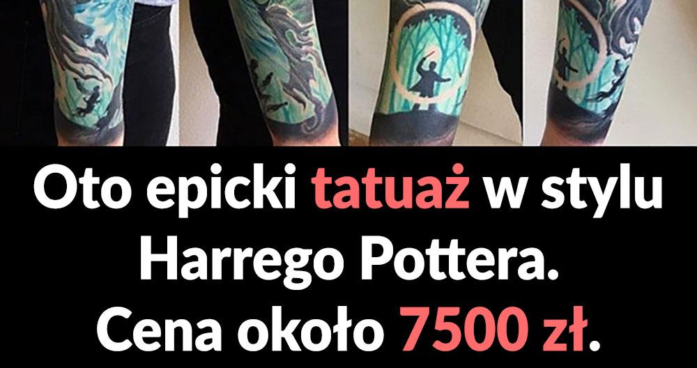 Tatuaż w stylu Harrego Pottera