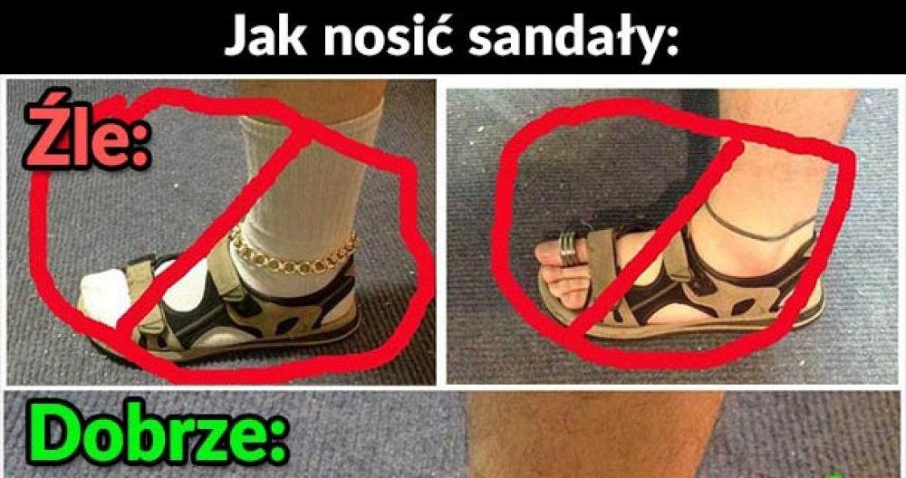 Jak należy nosić sandały