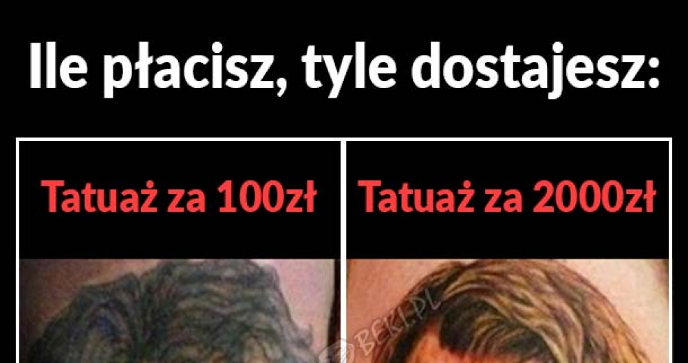 Kiedy oszczędzisz na tatuażu
