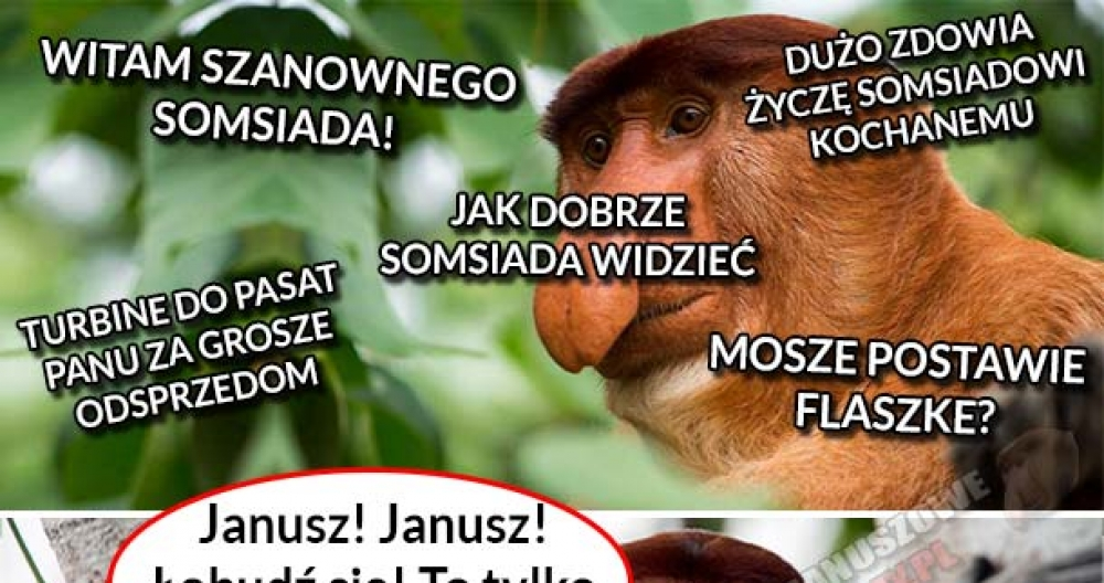Życzliwość Janusza do somsiada :D