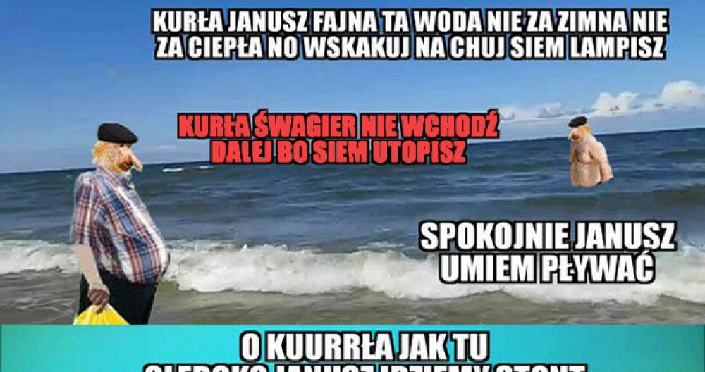 Janusz ze szwagrem nad morzem :D