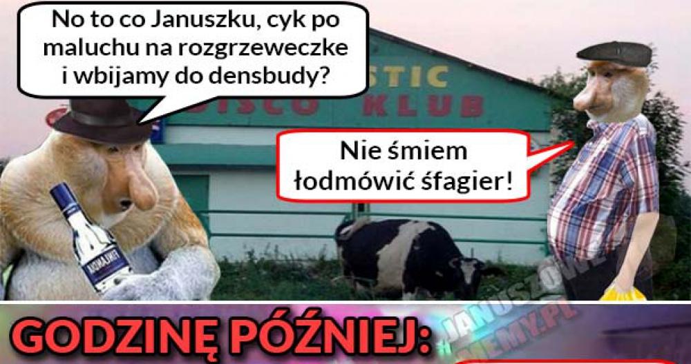 Janusz ze szwagrem na dyskotece :D