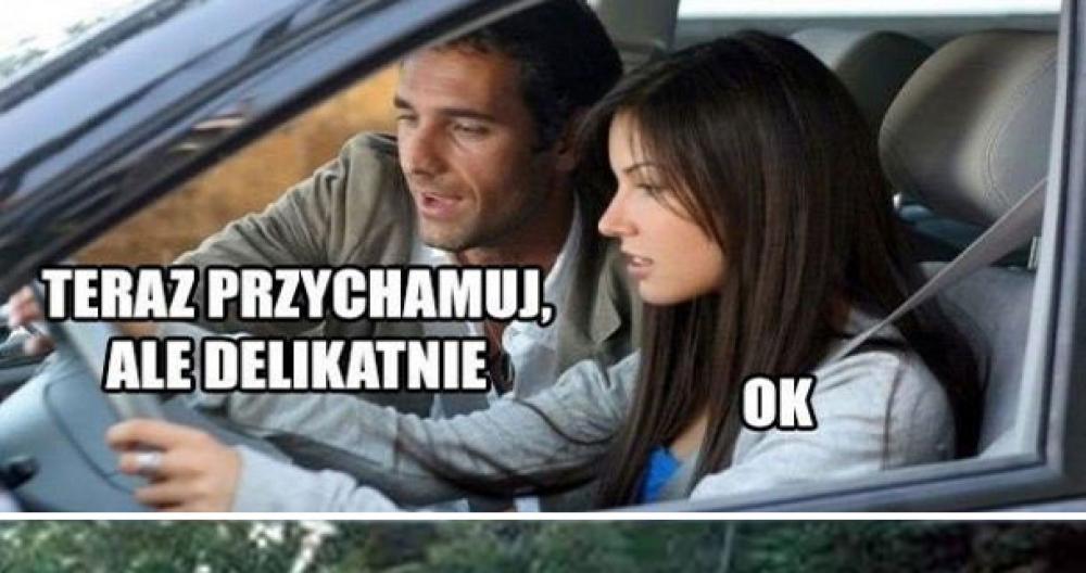 Laska za kierownicą :D
