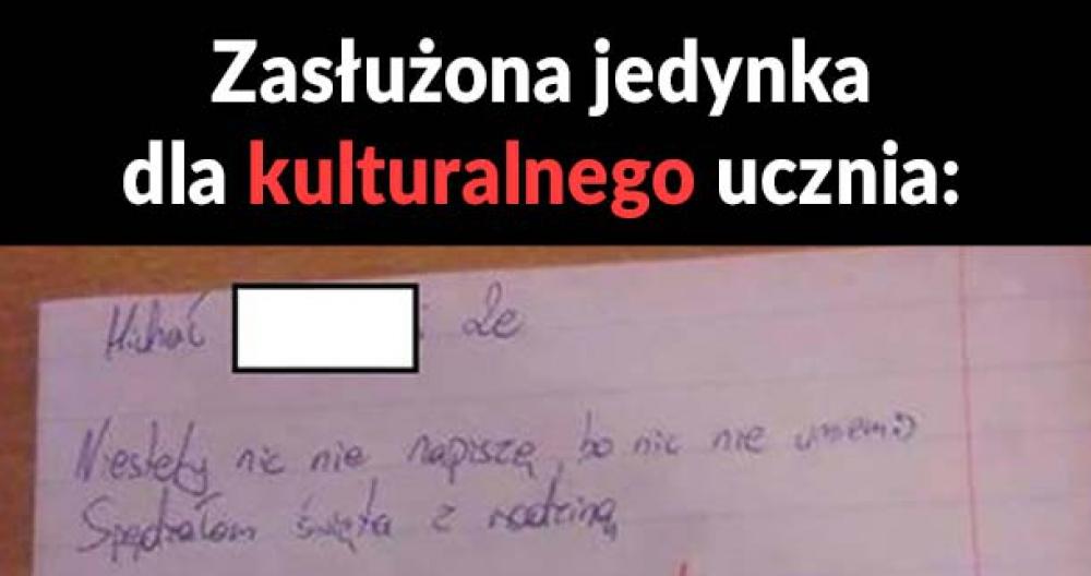 Kulturalny uczeń :D