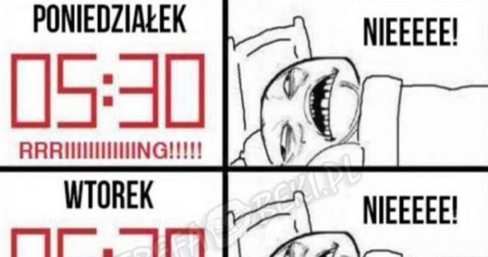 Spanie w tygodniu