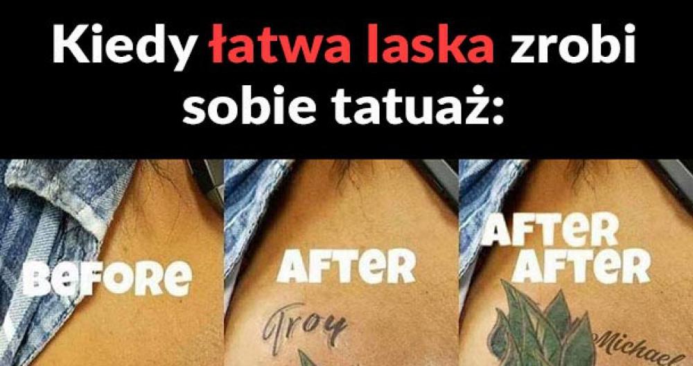 Tatuaż łatwej laski