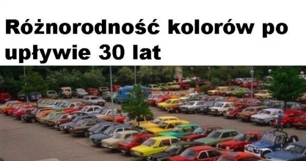 Kolory aut kiedyś i dziś