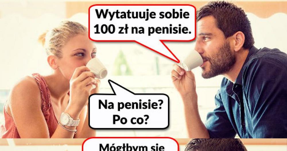 Tatuaż 100 zł na penisie
