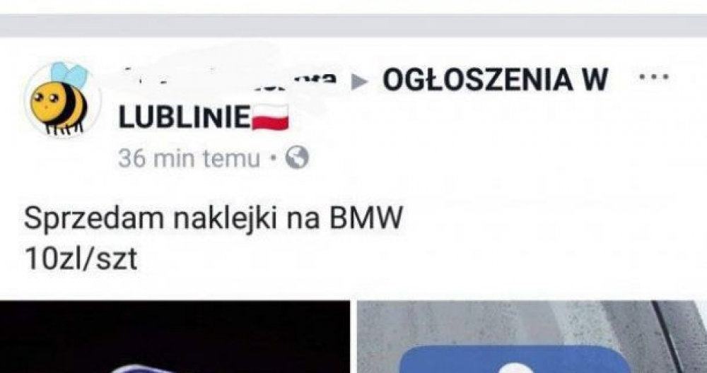 Naklejki na BMW :D