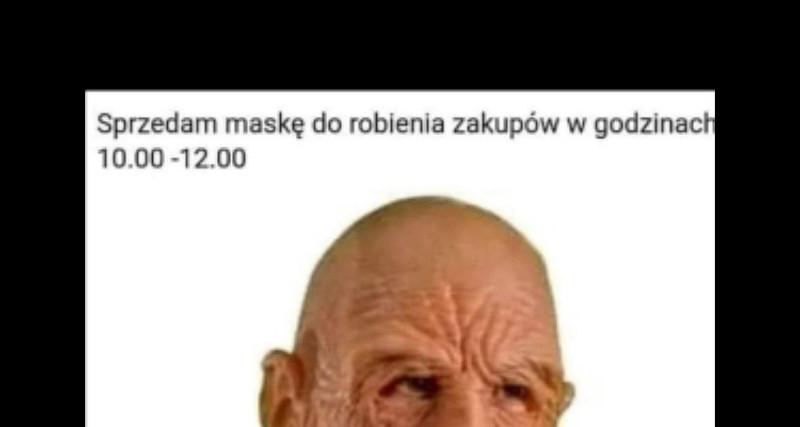 Maska do robienia zakupów